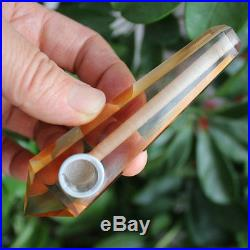 1000PC Orange Smelt Quartz Crystal Wand Smoking Pipes reiki healing