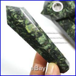 1000Pcs Natural Grain Stone Crystal Wand Smoking Pipes reiki healing