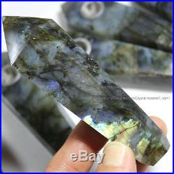1000Pcs Natural Labradorite Gemstone Crystal Wand Smoking Pipes reiki healing