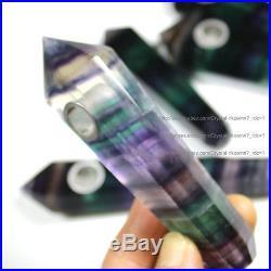 1000Pcs Natural Purple/Green Fluorite Crystal Wand Smoking Pipes reiki healing