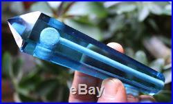 100PC Blue Smelt Quartz Crystal Wand Smoking Pipes reiki healing