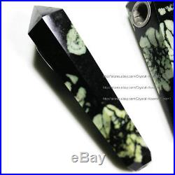 100Pcs Natural Chrysanthemum stone Crystal Wand Smoking Pipes reiki healing