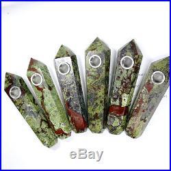 100Pcs Natural Dragon Bloodstone Gem Crystal Wand Smoking Pipes reiki healing