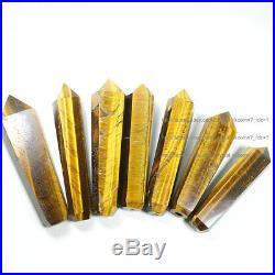 100Pcs Natural Tiger Eye Gem Crystal Wand Smoking Pipes reiki healing