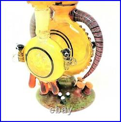 10.5 Beehive Collectible Tobacco Glass Smoking Herb Bowl Hand Pipes Gift