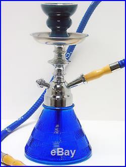 11 BLUE Modern Petite Hookah Smoking Pipe Nargila Mya Style 1 Hose 005