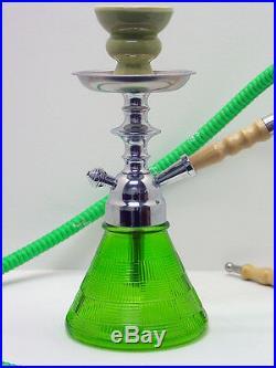 11 GREEN Modern Petite Hookah Smoking Pipe Nargila Mya Style 1 Hose 005