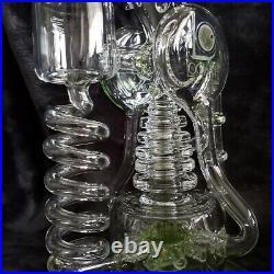12.5 LOOKAH Glass Spiral Recycler Percolator Rig Tobacco Pipe Bong