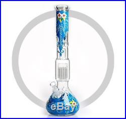 18 Water Pipe Bong Bubbler Hookah Tobacco Pipe UV Glow In The Dark Edition
