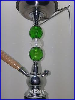 20 Stylish Swirl Tall Dye Green Hookah Glass Smoking Pipe 1 Hose 1006