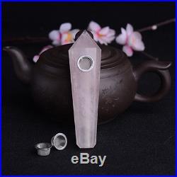 20pcs Natural Rose Quartz Crystal Pink Wand Smoking Pipes reiki healing