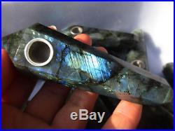 20pcs Wholesale Natural quartz crystal labradorite smoking pipe smoking cigaret
