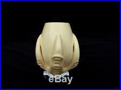 3/4 Bent Eagle Claw & Egg Block Meerschaum Pipe Yellow Meerco New Smoking 2066