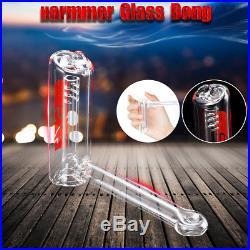 3 Hammer Hookah Water Glass Pipe Bubbler Bong Smoking Pipes Glassware Shisha
