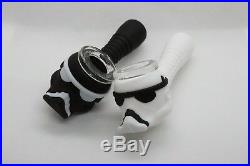 4 Star Wars Smoking Silicon Hand Pipe with glass bowl