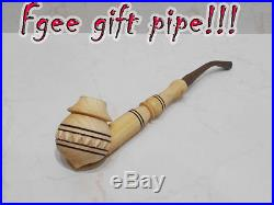 5 Pcs Set Long Carved Ukrainian Traditional Wooden Tobacco Smoking Pipes +Extra