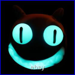 7 Cheshire Cat Glowing Typhoon TOBACCO Pipe (AMERICAN MADE Glass Hand Pipes)