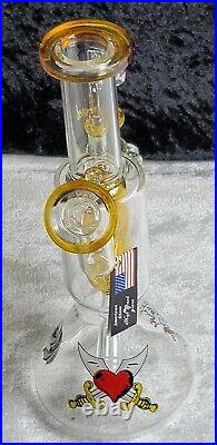 9 inch Double Mouth Piece Double Bowl High End Glass Tobacco Water Pipe USA