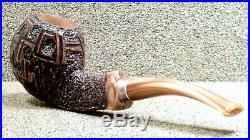 ARDOR Meteora Unsmoked Bent Apple withSilver Smoking Estate Pipe / Pfeife