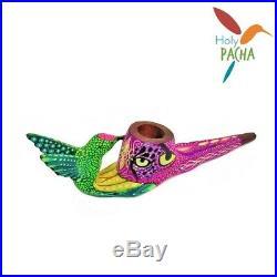 Amazonian Mapacho Tobacco Pipe Ayahuasca Inspired Hummingbird 11