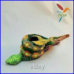 Amazonian Mapacho Tobacco Pipe Ayahuasca Inspired Snake 10.25