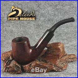 BALANDIS ORIGINAL Briar Wood Handmade TOBACCO SMOKING Pipe Bent Saddle BARN
