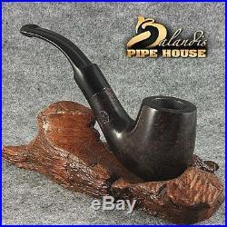 BALANDIS ORIGINAL Briar Wood Handmade TOBACCO SMOKING Pipe Bent Saddle MORG