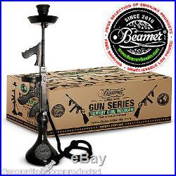 Beamer Tommy Gun Hookah Shisha Nargila Smoking Pipe Set Flavors Tobacco Charcoal