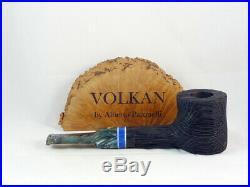 Brand new bog oak pipe VOLKAN Morta by Alberto Paronelli Tobacco Pipe 9mm pfeife