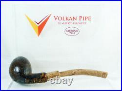 Brand new briar pipe VOLKAN Alberto Paronelli S sandblast Tobacco Pipe pfeife