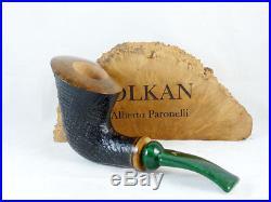 Brand new briar pipe VOLKAN Poesia sandblast shell handmade Tobacco Pipe C97