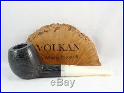 Brand new pipe VOLKAN bog oak morta devil anse silver Tobacco Pipe pfeife pipa