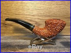 Brebbia Supreme Rusticated Tobacco Pipe, Unsmoked