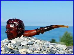 Briar Wood Tobacco Pipe Bust of Alfred E. Neuman Me Worry by Oguz Simsek