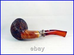 Briar pipe SANTAMBROGIO rustic Tobacco Pipe Santambrogio pfeife handmade