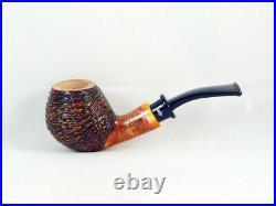 Briar pipe SANTAMBROGIO rustic Tobacco Pipe pfeife pipa handmade Italy