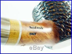 Briar pipe Stefano SANTAMBROGIO rustic Tobacco Pipe handmade 9mm filter pfeife