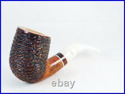Briar pipe Stefano SANTAMBROGIO rustic Tobacco Pipe handmade Italy pfeife