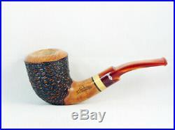 Briar pipe Stefano SANTAMBROGIO rustic Tobacco Pipe handmade pipa pfeife