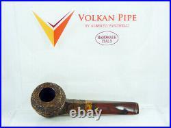 Briar pipe VOLKAN Antiqua rustic Tobacco Pipe bulldog pfeife pipa handmade