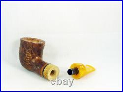 Briar pipe VOLKAN Calypso sandblast Tobacco Pipe 9mm filter pfeife pipa