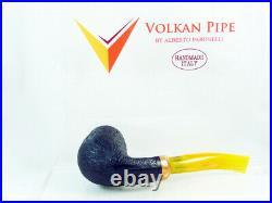 Briar pipe VOLKAN Calypso sandblast Tobacco Pipe 9mm filter pfeife pipa handmade