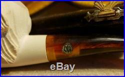 CAO Meerschaum Dog Tobacco Pipe & Case New