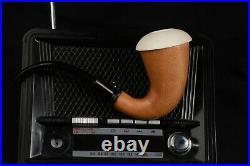 Calabash Meerschaum Pipe Sherlock Pipe hand carved tobacco smoking wth case