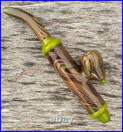 Cavalier Classic Styled Woodgrain Glass Tobacco Pipe Sherlock