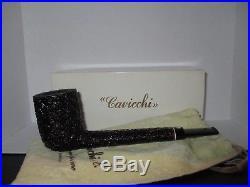 Cavicchi Sandblasted Billiard Vintage Smoking Pipe FRESH