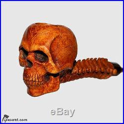 Charming Work Of Art Smooth Skull Smoking Pipe Kit-customized Box-master Gechev