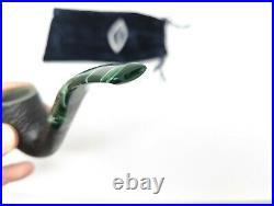 Comoy's Christmas 891 Sandblasted Bent Egg Tobacco Smoking Pipe