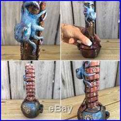 Custom Handmade Steampunk 6 Octopus Water Pipe Bong Glass Bubbler Smoking Vase