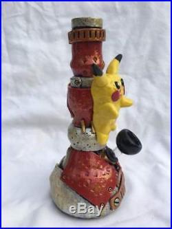 Custom Handmade Steampunk 7 Pikachu Water Pipe Glass Bubbler Smoking Pokemon